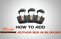 Add Official Author Box Widget in Blogger Blog