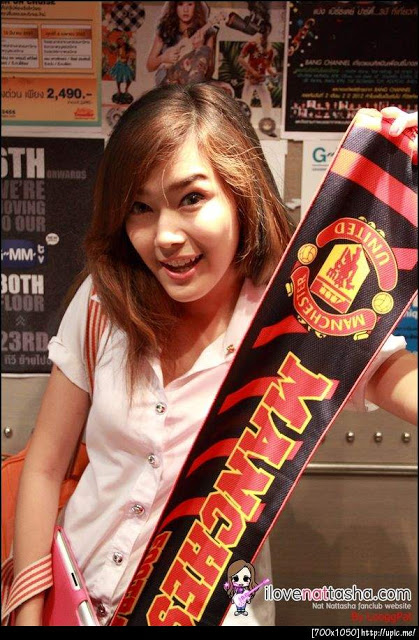 Nattasha Nauljam, Artis Cantik Thailand - Manchester United Fans