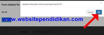 form ok pada pengisian email dan nomor hp epupns
