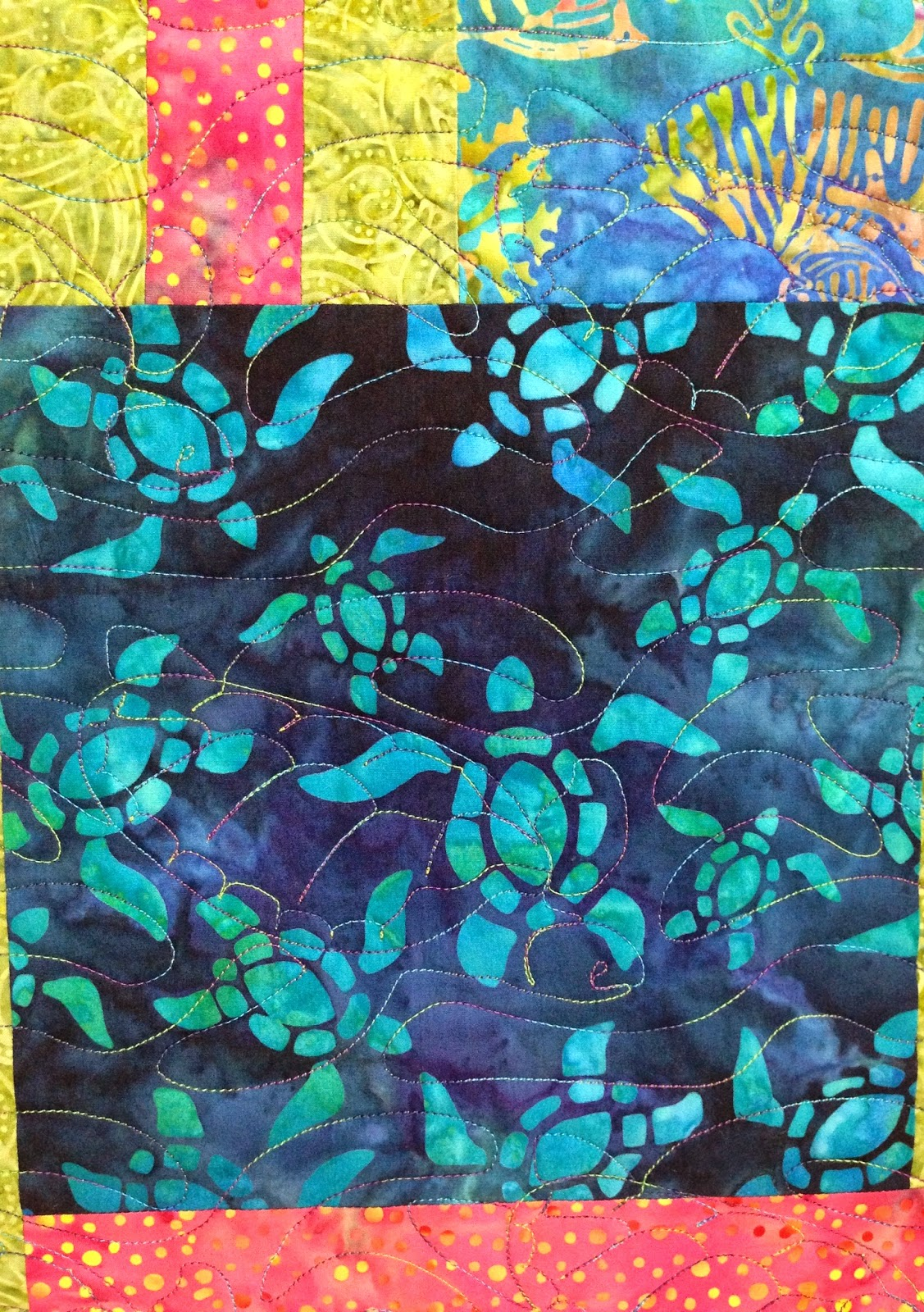 Kristi Dowding Turtles in the Sea Quilt