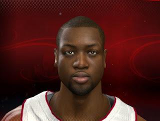 NBA 2K13 Dwyane Wade Cyber Face Mod PC