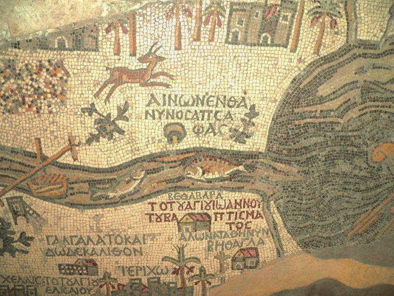 Madaba map discovered in saint george church in madaba jordan