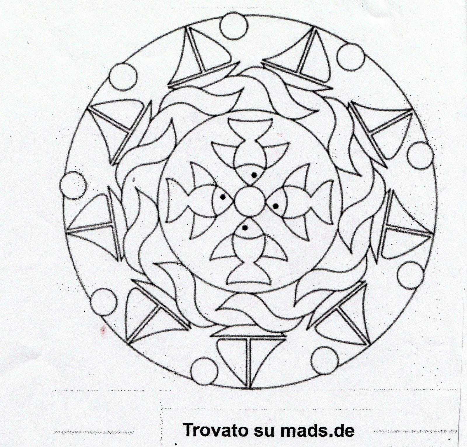 Mandala da colorare per bambini scuola infanzia ew15 for Maestra caterina natale