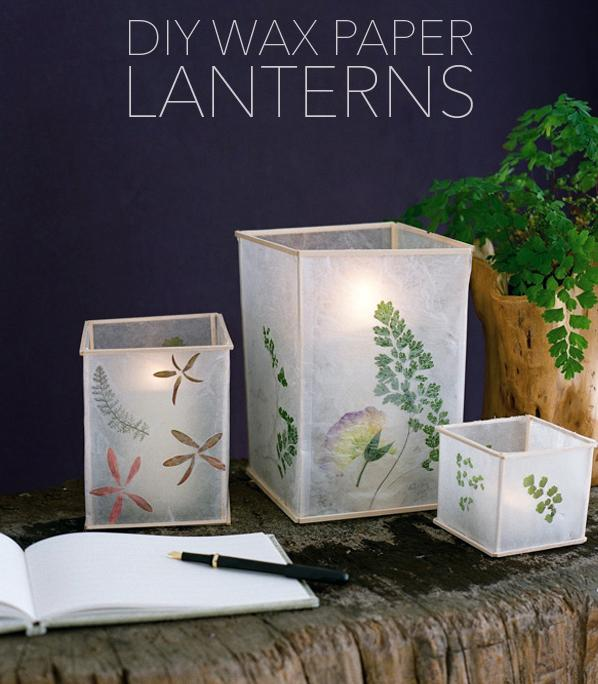 Diy wedding wax paper lanterns do it yourself ideas and for Diy paper lanterns