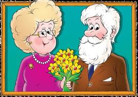 Znalezione obrazy dla zapytania babcia i dziadek gif