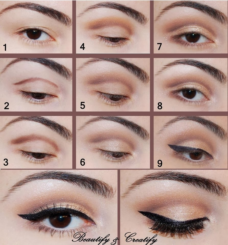 Eye steps makeup pictures