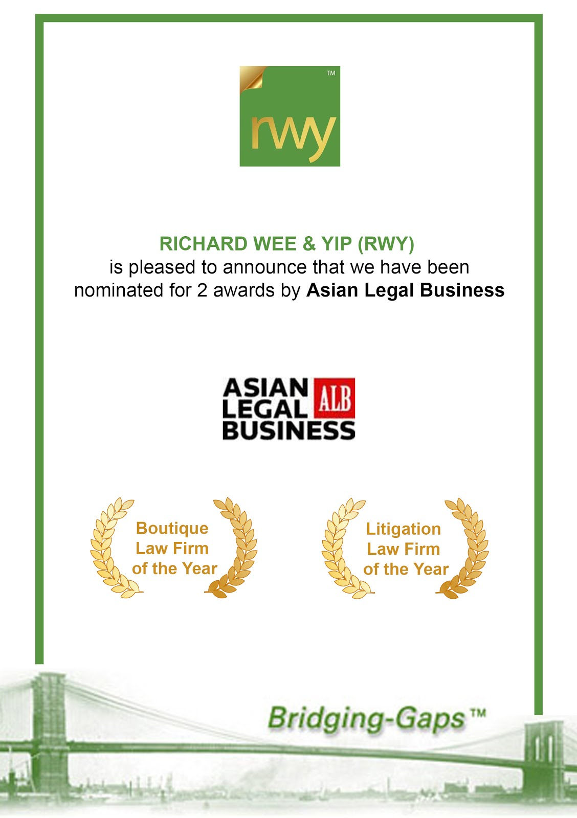 Asian Legal Business || Malaysia Law Awards 2016