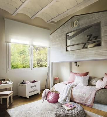 Decoración de dormitorio con literas