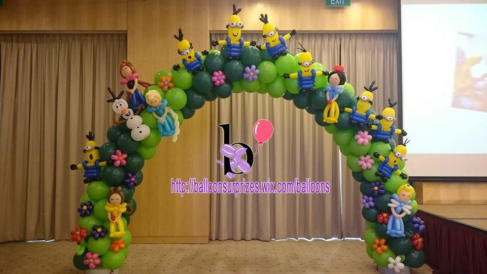 Balloon surprizes birthday theme customised balloon for Balloon decoration in chennai