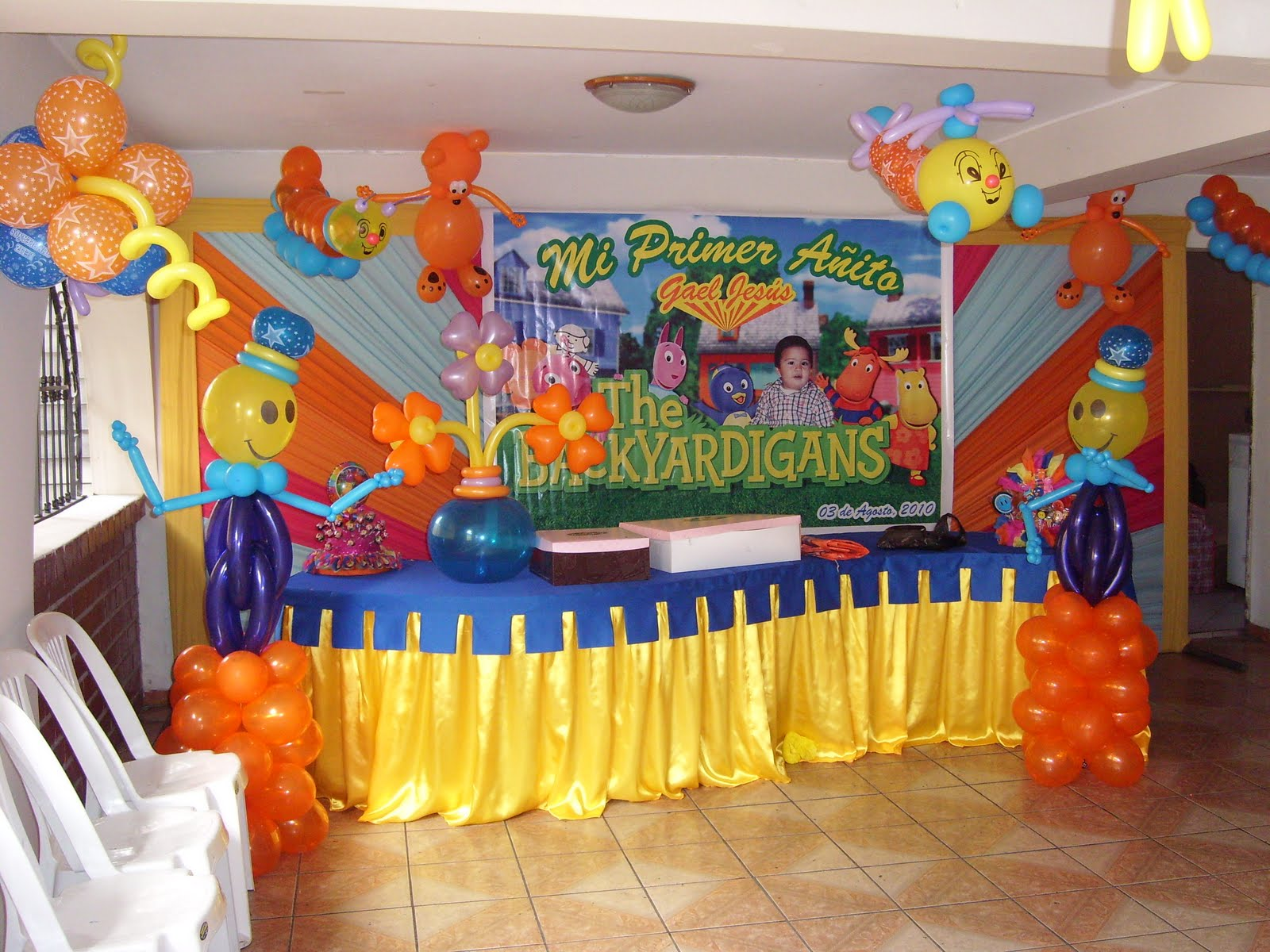 globos katty decoraci n de backyardigans