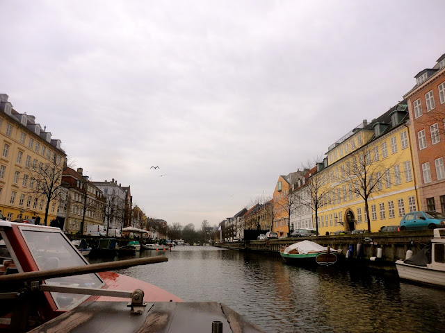 Canal boat tour through Copenhagen, Denmark