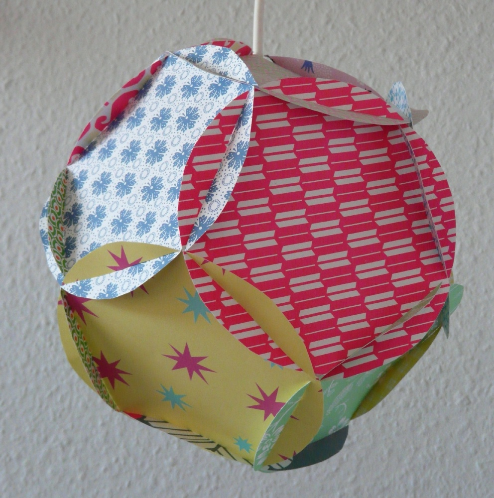 Fantasium: papir patchwork lampe