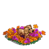 FarmVille Puppy in Flowers  (Day 11)