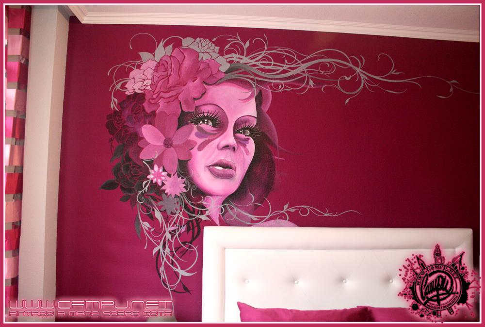 Campu net dise o pintura aerografia e ilustracion murales pintados a mano unicos y personalizados - Murales pintados a mano ...