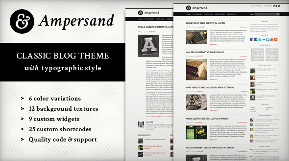 Image for Ampersand – Classic Blog Theme by Mojo Themes