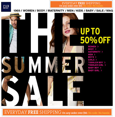 Click to view this June 15, 2011 Gap email full-sized