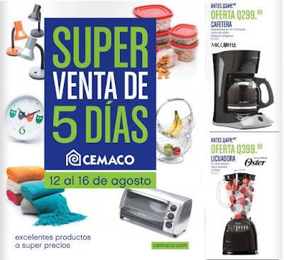 Super Venta de 5 Dias Cemaco 8-2015