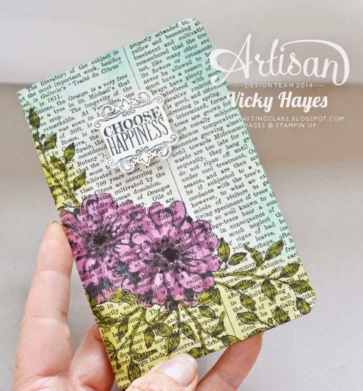 Choose Happiness and other Stampin' Up stamp sets are available online from UK independent Stampin' Up demonstrator Vicky Hayes