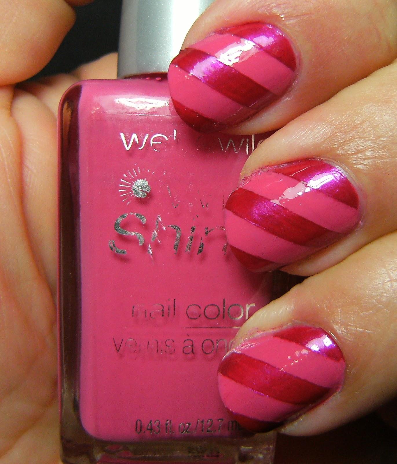 Deez Nailz: Wet n Wild Pink Stripes