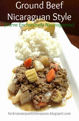 Ground Beef Nicaraguan Recipe Baby Corn Carrots