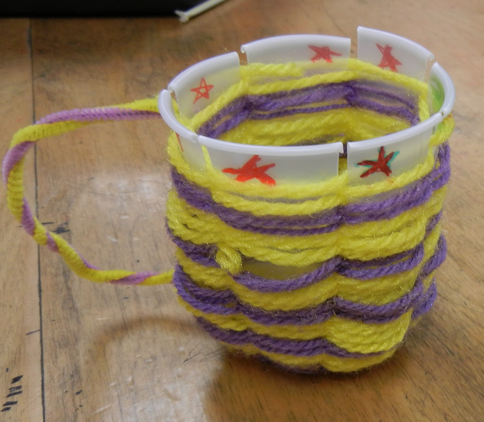 Woven Yarn Basket : The modern art smock th woven yarn cup baskets