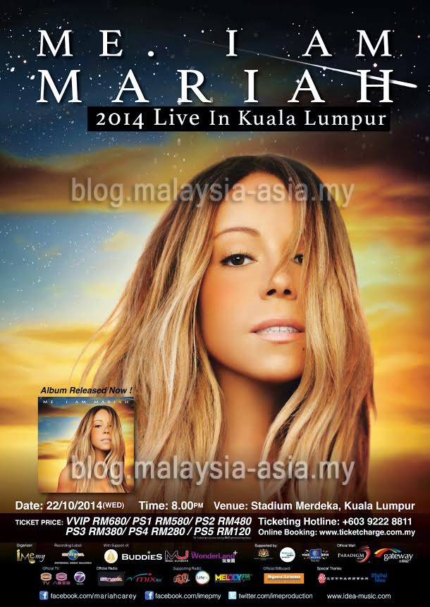 Mariah Carey Live in Malaysia 2014 Poster