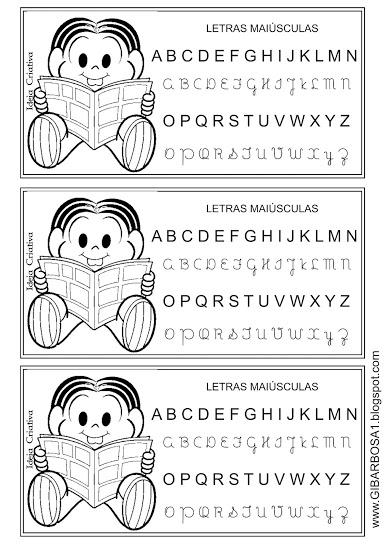 Alfabetário Ilustrado Letras Maiúsculas Turma da Mônica