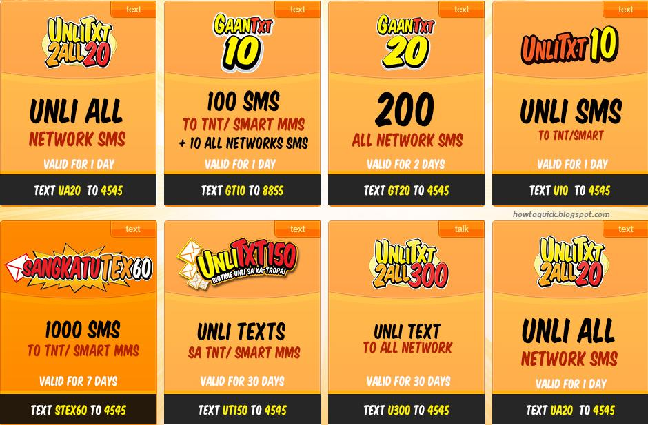 smart talk n text promos code for unli text promos and other text ...