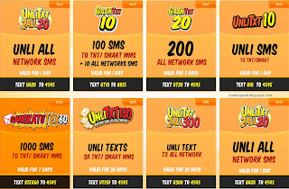 smart talk n text promos code for unli text promos and other text