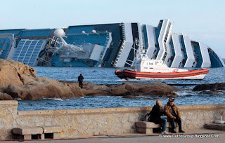 Costa Concordia cruiser runs aground off the coast of Isola del Giglio, Italy.