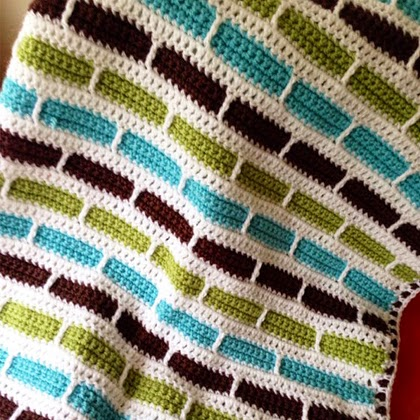 Bernat's Crochet Stripes Blanket