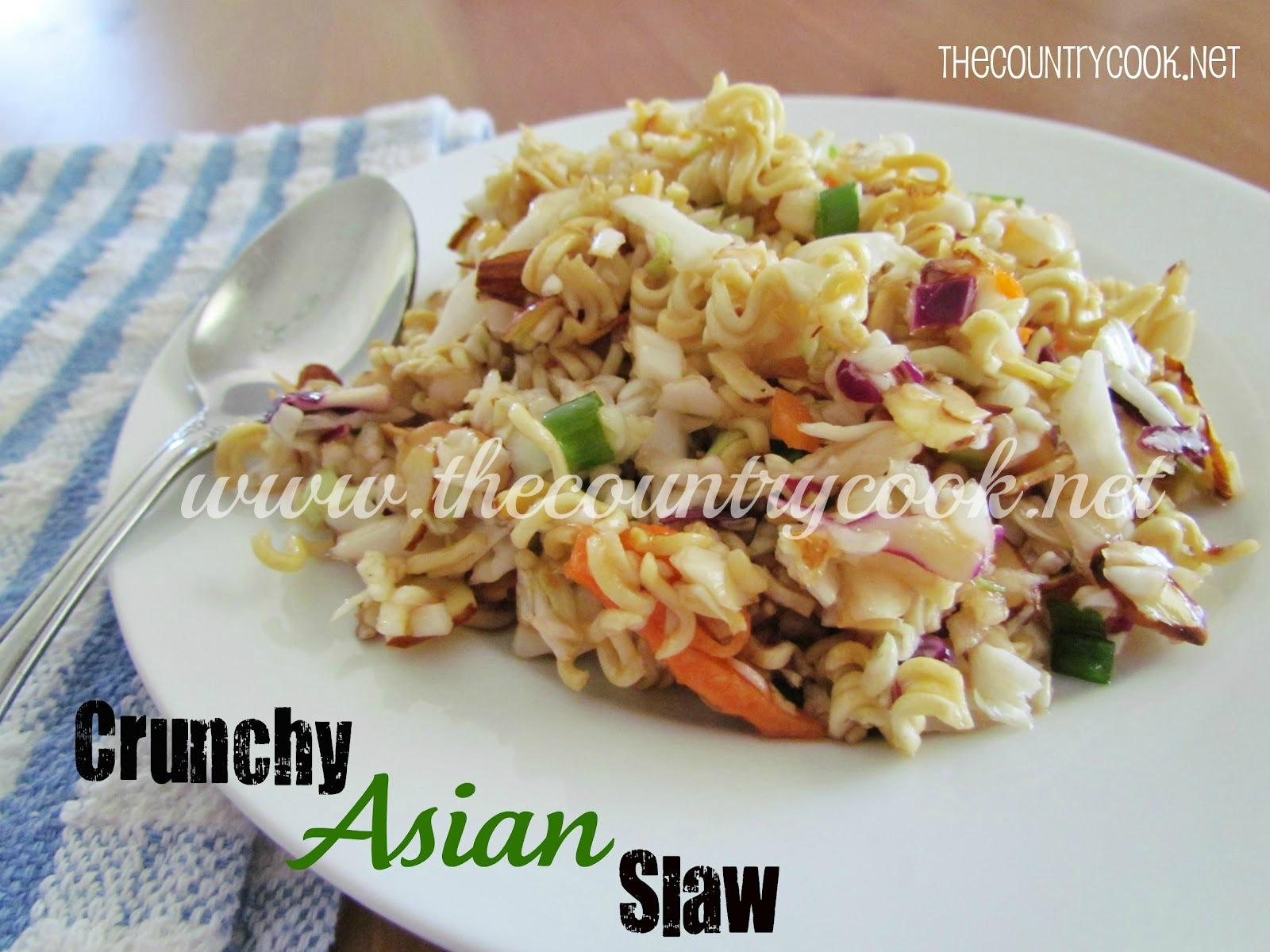 Crunchy Ramen Asian Slaw - The Country Cook