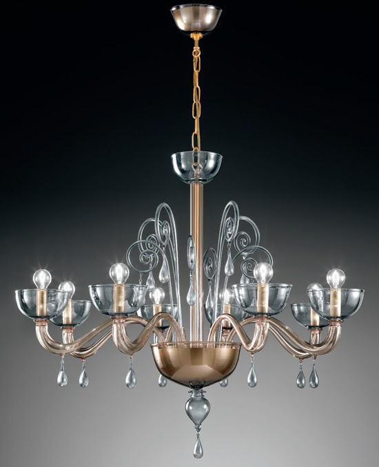 Perfect Vetrilamp Murano glass chandelier