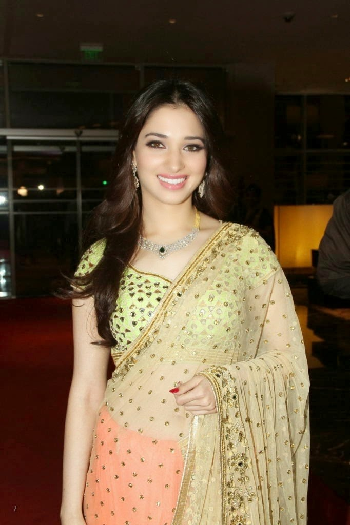 Milky Beauty Tamanna Bhatia Hot HD Wallpapers in Saree