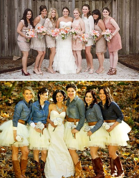 Bridesmaid Country Themed Wedding