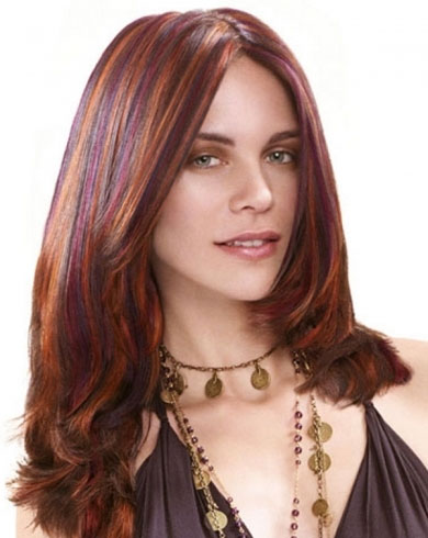 Chic Colorful Hair Highlights