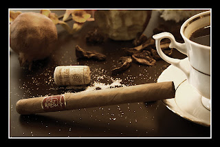 Leon Jimenes cigar with coffee