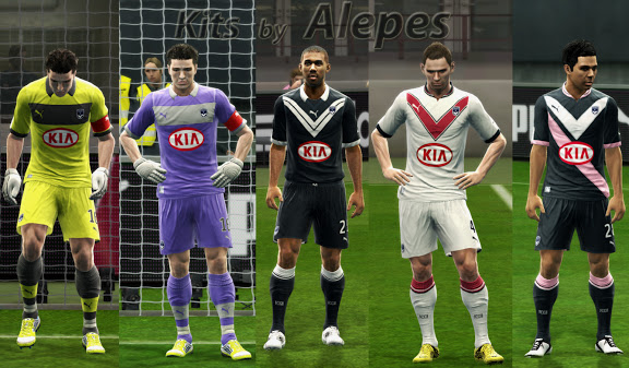 PES 2013 Girondins de Bordeaux 2012/13 Kits by Alepes