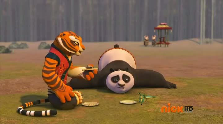 Screen Shot Of Kung Fu Panda Legends of Awesomeness (2011) Dual Audio Movie 100MB small Size PC Movie