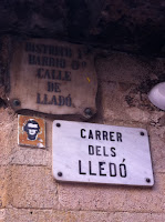 placas antiguas calles barcelona