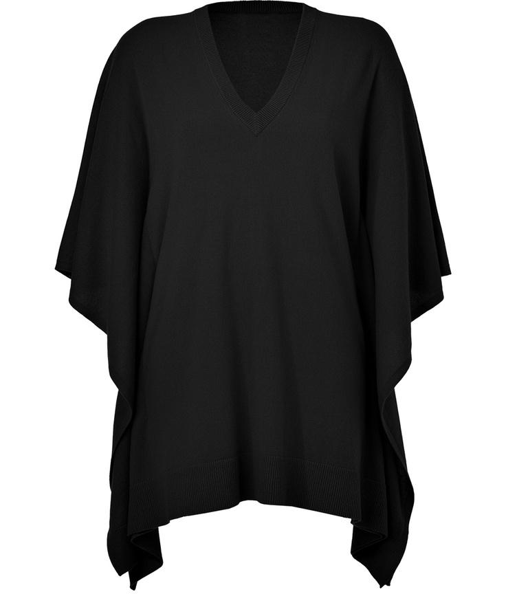 Michael kors black cashmere cape fashion