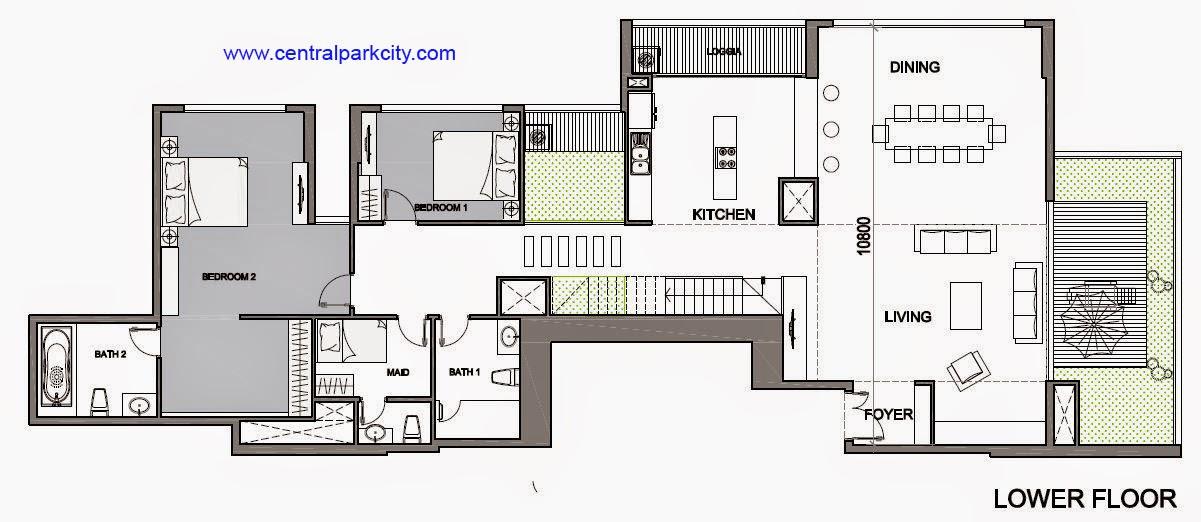 Vinhomes Central Park Penthouse - Căn số 02 tầng 45-46 Lower Floor - 4PN - 411.6m2