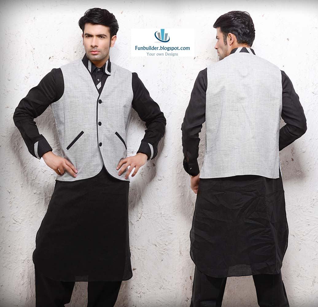 Eid kids kurta shalwar kameez designs 2013 2014 - Latest Black Shalwar Kameez Design For Mens Latest Shalwar Kameez Design Collection For Mens