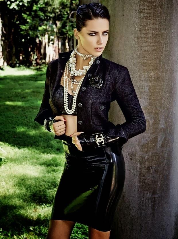 Adriana Lima For Vogue Brazil, October 2013