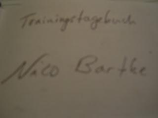 Mein Trainingstagebuch - Inschrift