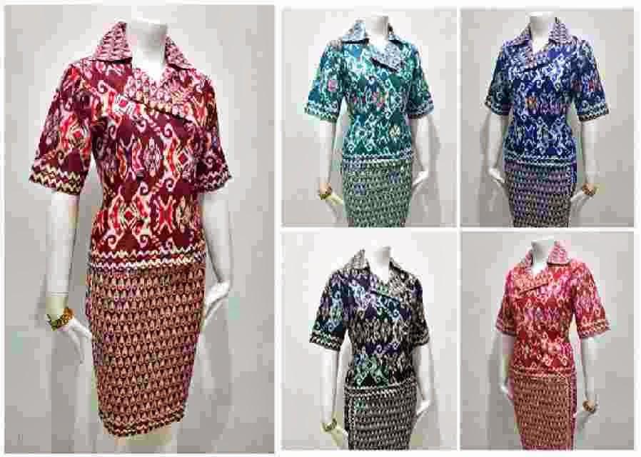 Setelan Rok Dan Blus Batik Solo Cantik Murah Batik