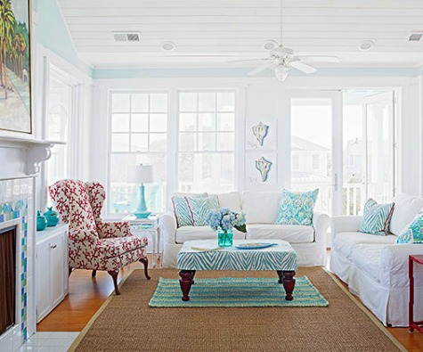 Coastal Living Room Color Ideas from Better Homes and Gardens   Coastal Living Room Idea. Coastal Living Room. Home Design Ideas