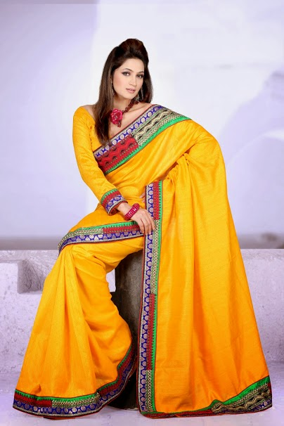 Pakistani-saree-yellow