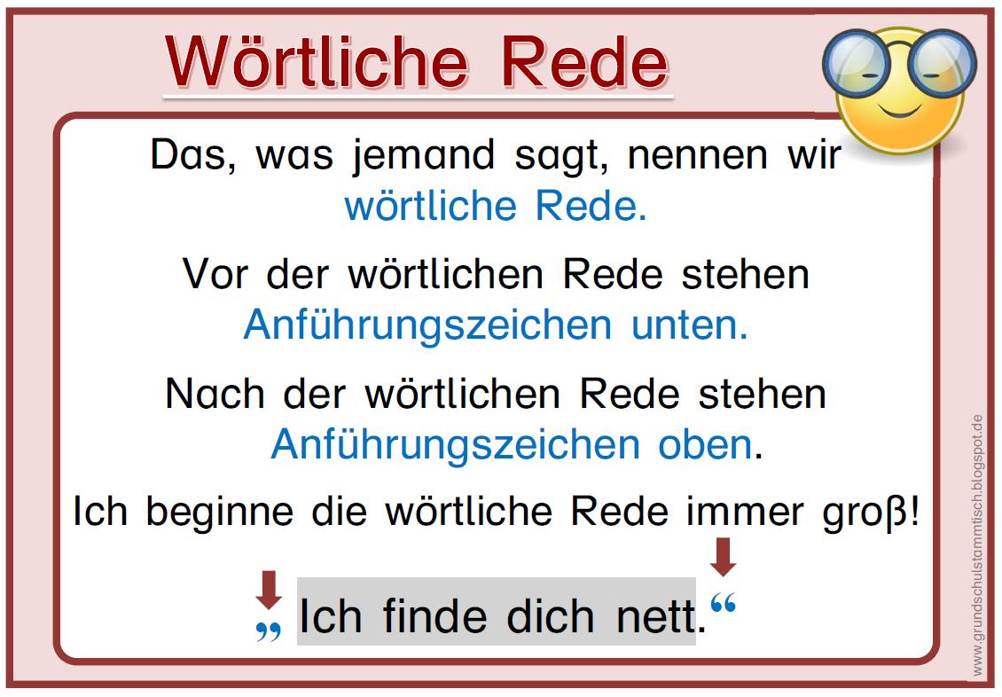 Satzzeichen in der wörtlichen Rede  Deutsch  Grundschule