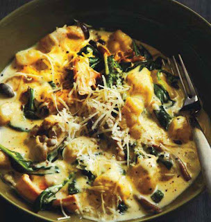 Gnocchi With Spinach, Mushrooms and Gorgonzola